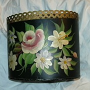 SOLD Tole Painted Tin Letter Holder
