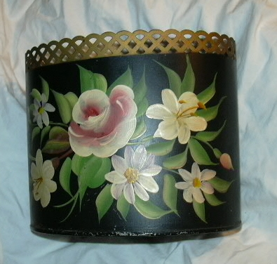 Tole Painted Tin Letter Holder