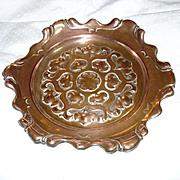Copper Plate Scalloped Ornate Metalwork