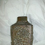 Old Japanese Tea Caddy Cannister Oriental Metalwork Box
