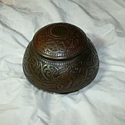 Rare Art Deco Bronze Inkwell Marshall Fields Co USA Desk Accessory Box