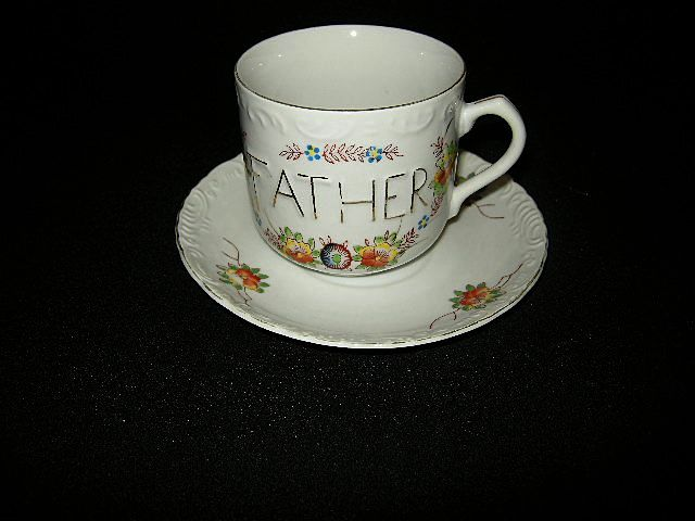 Old Japan Father Cup & Saucer Set Fine Dining China