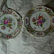 Set 8 Carl Thieme Antique Dresden Dessert Plates Hand Painted Flowers