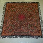 Antique Paisley Throw  Fine Textile Weaving