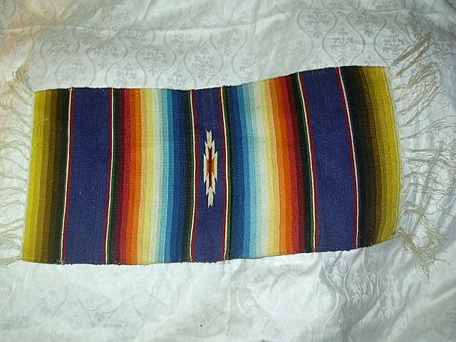 Old Mexican Small Serape Blanket