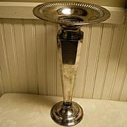 Silverplate 1924 Tall Dated Vase Richmond Virginia
