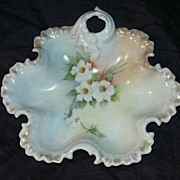 Artist Signed Hand Painted Ornate Bowl With Scallops Poppy Flowers Fine China