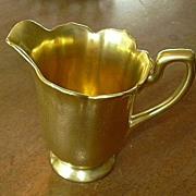 Shiny Gold Brocade Creamer Cream Pitcher Fine Dining