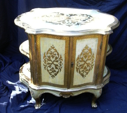 Italian Florentine Gilt  Painted Cabinet  Furniture From Italy