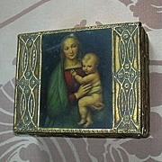 Italian Florentine Box Madonna Virgin Mary Infant Jesus Art