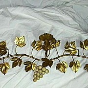 Italian Florentine Wall Floral Spray Sconce Candleholders