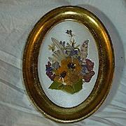 Italian Florentine Framed Flowers & Satin