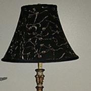 Italian Florentine Floor Lamp With Table