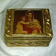 Miniature Florentine Box Madonna & Child