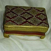 Italian Florentine Gold Gilt & Hand Painted Footed Box