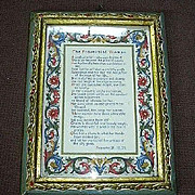 Italian Florentine Gold Gilt Framed Proverbial Woman Poem Art