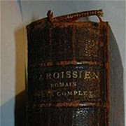 Nouveau Paroissien Romain Tres Complet Antique French & Latin Priest's Prayer Book Leather 1888