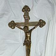 SOLD Church Altar Crucifix Chicago Foundry 28th Eucharistic Congress Souvenir  1926 Catholic C