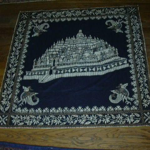 Old Cotton Batik Hanging Fabric Table Cloth