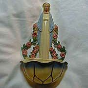 Hartland Plastic Virgin Mary Our Lady Holy Water Font