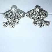 Fabulous Rhinestone Clip Earrings