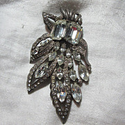 Eisenberg Original Sterling Silver Rhinestone Fur Clip