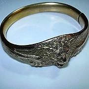 Victorian Gold Filled Lion Bracelet
