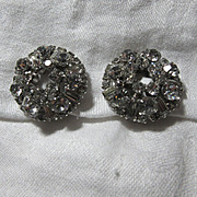 Sparkly E Quality Rhinestone Clip Earrings