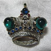 Crown Trifari Crown Pin With Patent Design Number