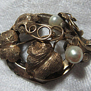 Victorian Brooch With Pearls