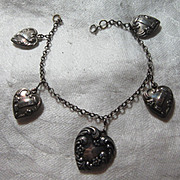 Sterling Puffy Hearts Bracelet