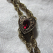 Gold Filled Watch Chain & Slide