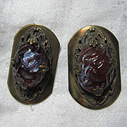 Pair Old Dress Clips
