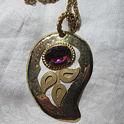 Stigi Paisley Pendant Necklace