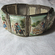 Middle Eastern Hand Painted Bracelet Art Miniatures
