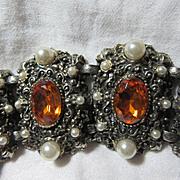 Ornate Costume Vintage Large Bracelet