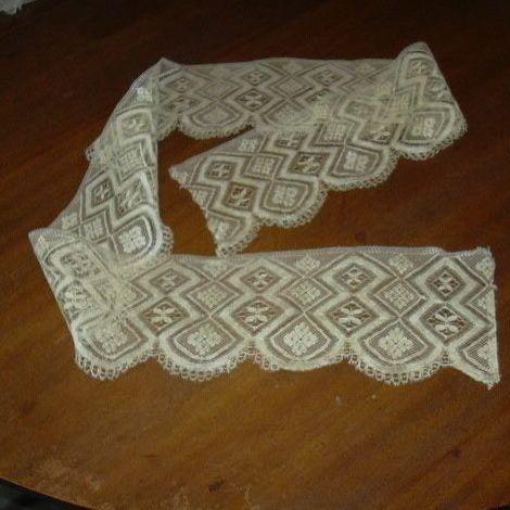 Old Ecru Lace Piece