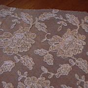 Old Ecru Needle Lace Panels Yardage Trim