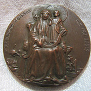 Bronze Medal  Mater Bonorum Studiorum St Anne & Virgin Mary  Dated 1913 Bronze Medallion Reims