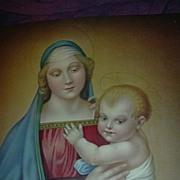 Madonna & Child Virgin Mary & Jesus Old Catholic Print Fine Religious Christianity Art