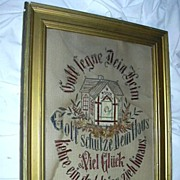 Old German Paper Punch House Blessing Catholic Art
