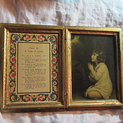 Italian Florentine House Blessing Psalm Of David Praying Child Infant Samuel Art