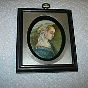 Old Framed Miniature Virgin Mary From Madonna & Child With Angels By F Lippi Art
