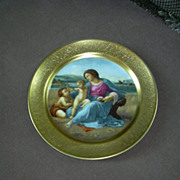 SOLD Pickard Raphael The Alba Madonna Numbered  Christmas Plate 1976