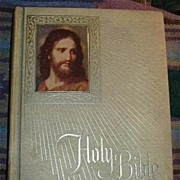 Holy Bible Catholic Fireside Family Edition Oversize Beautiful Binding 1972 Edition Fine ...