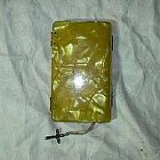 Old Butterscotch Marbelized Lucite Prayer Book El Angel De La Infancia