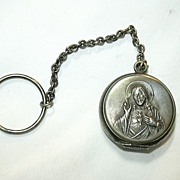 SOLD Old Germany Finger Rosary Case Jesus Sacred Heart