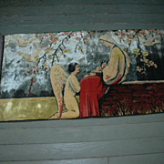 Old Prayer Rug Tapestry Mary & Angel