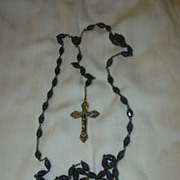 SOLD Fabulous Iridescent Glass Beads Blue Rosary