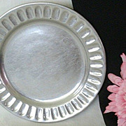 SALE Dated Wilton-Columbia Small Pewter Plate - 1977